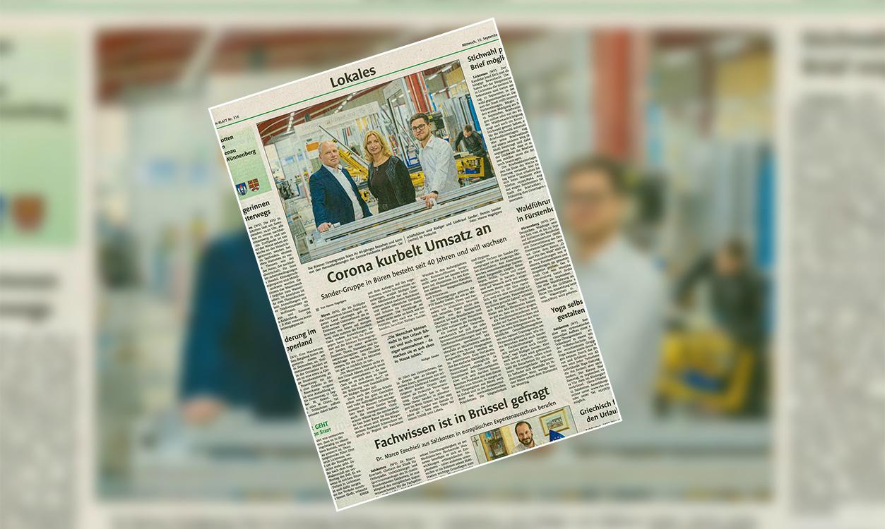 Corona kurbelt Umsatz an - Sander-Guppe in Büren besteht seit 40 Jahren und will wachsen
